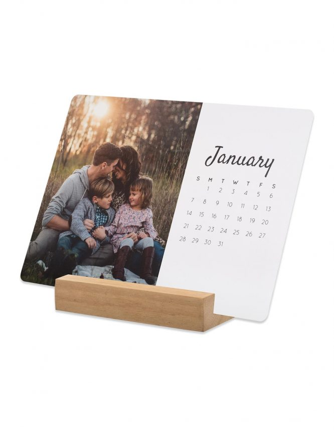 5x7 Card Photo Calendar with Block Stand 6
