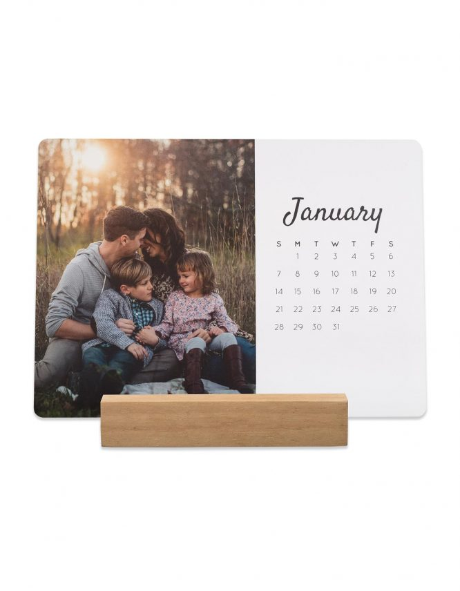5x7 Card Photo Calendar with Block Stand 7