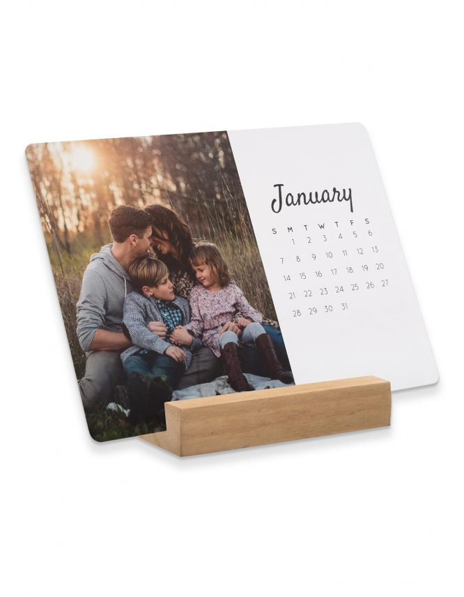 5x7 Card Photo Calendar with Block Stand 5