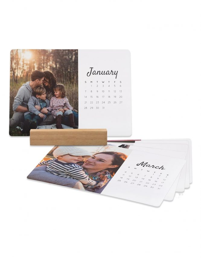 5x7 Card Photo Calendar with Block Stand 3