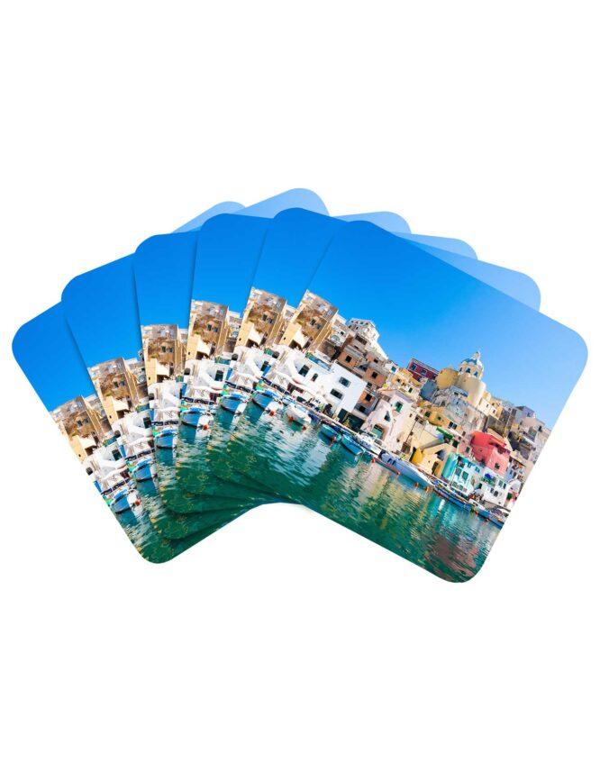 custom photo coasters single image set