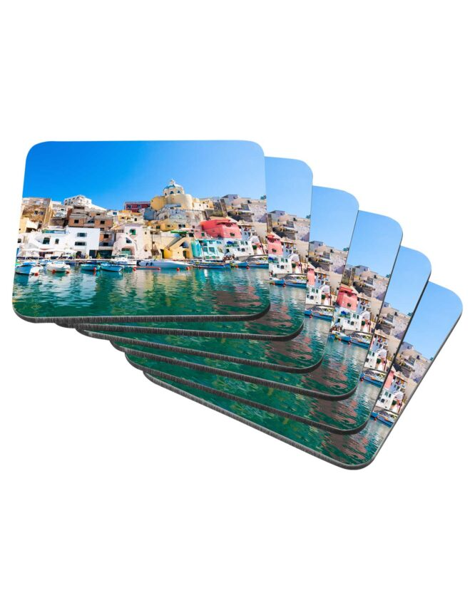 personalized photo coasters single image set