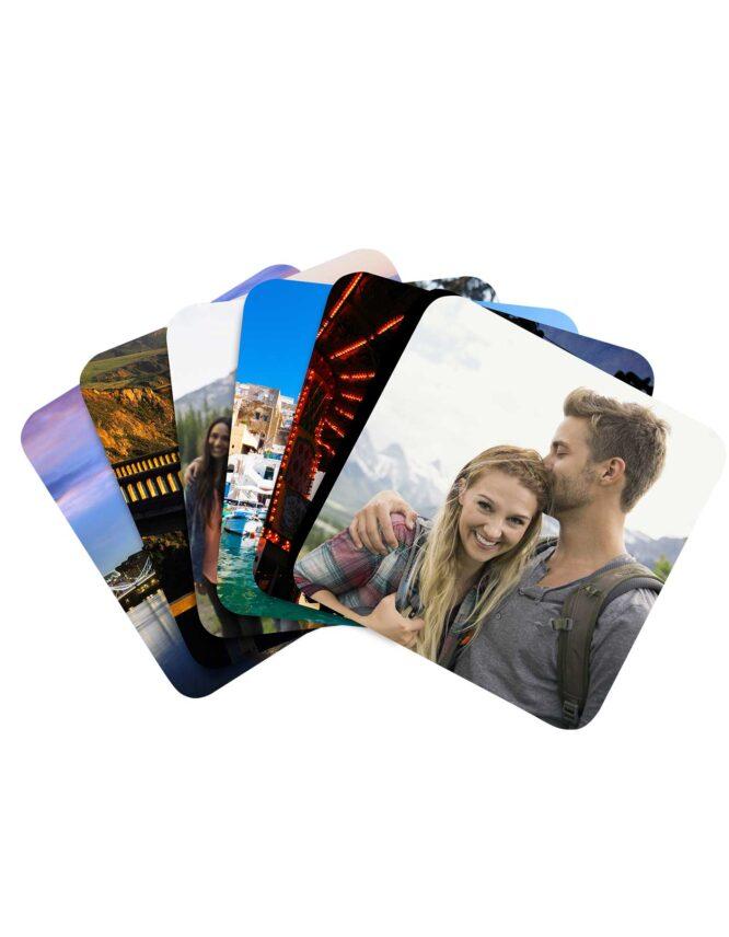multi image custom photo coaster set