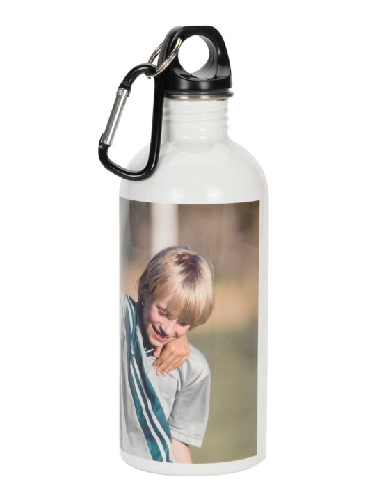 stainless steel water bottle with custom photo print