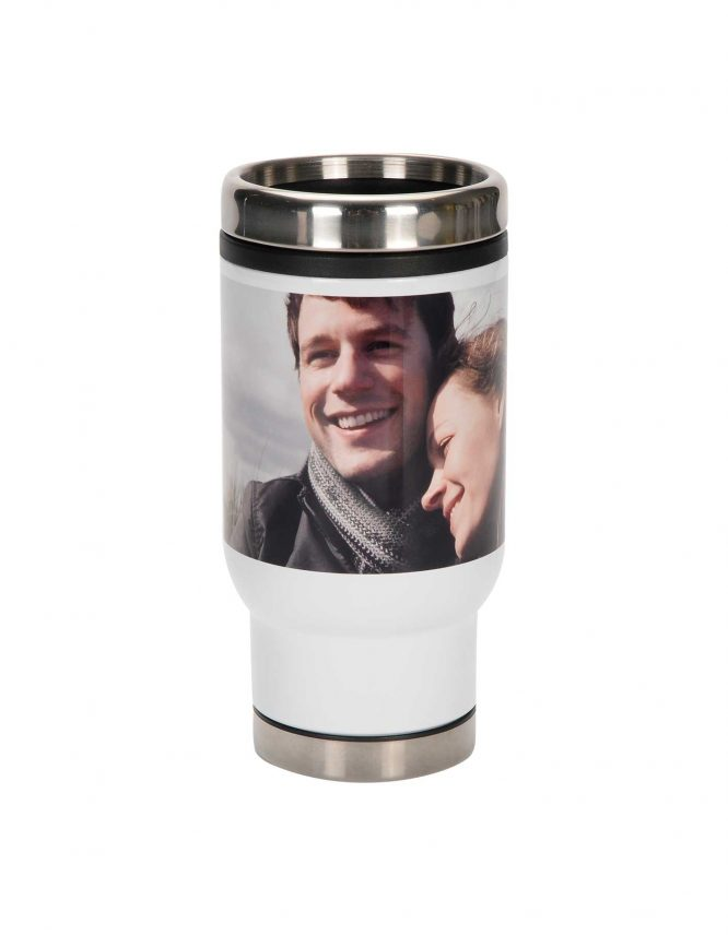 custom insulated travel photo mug