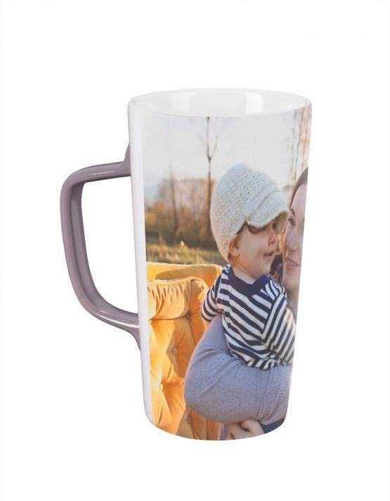custom cafe mug with family photo