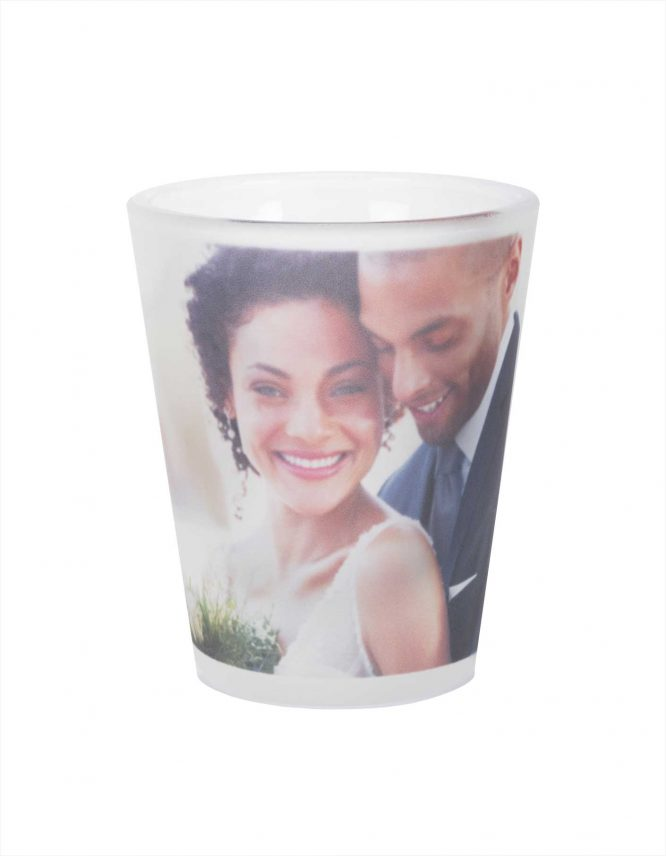 1.5 oz Frosted Photo Shot Glass 1