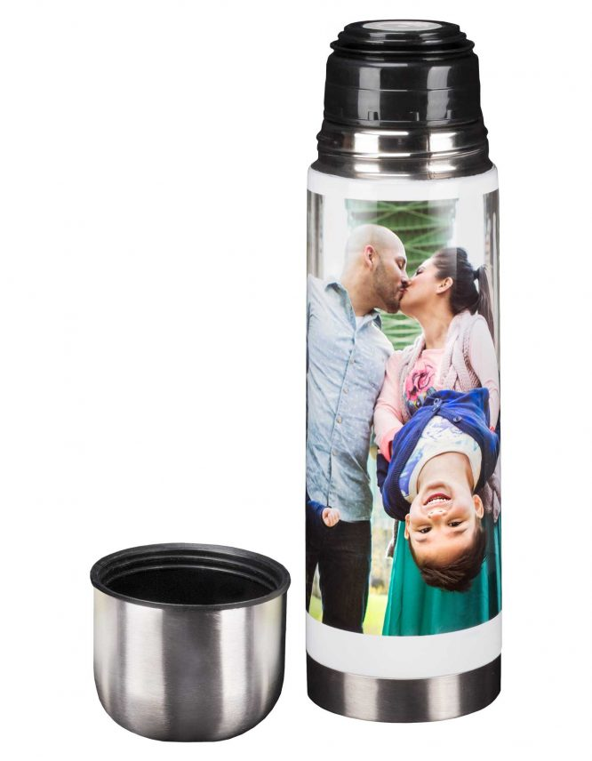 25 oz. White Photo Thermos 3