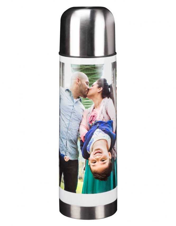 stainless steel thermos with custom photo print