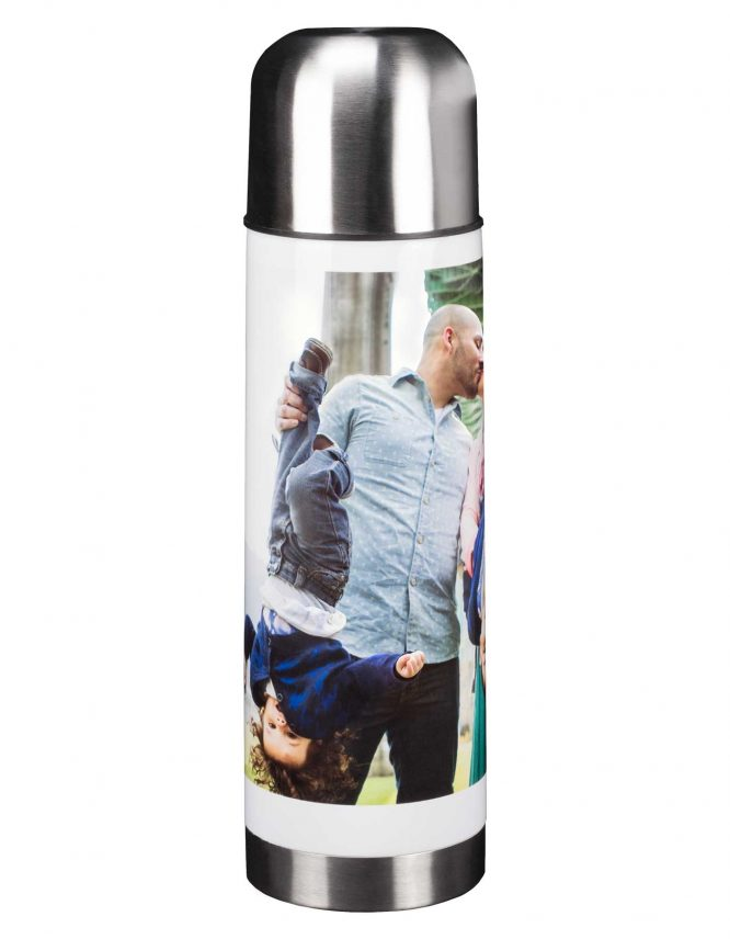 photo thermos with custom print