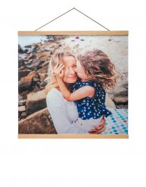 Hanging Custom Canvas Print with a family photo from Goodprints