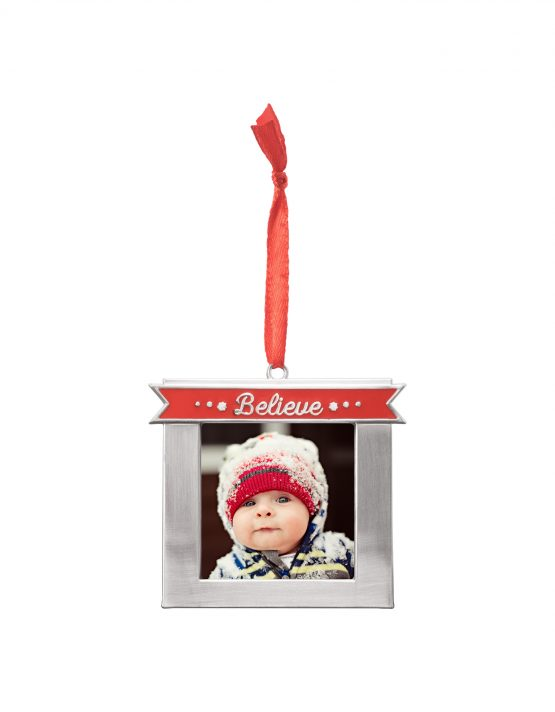 Believe Custom Metal Photo Ornament