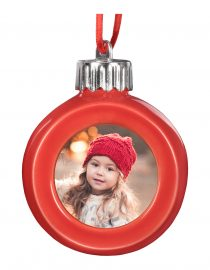 Red Globe LED Ornament