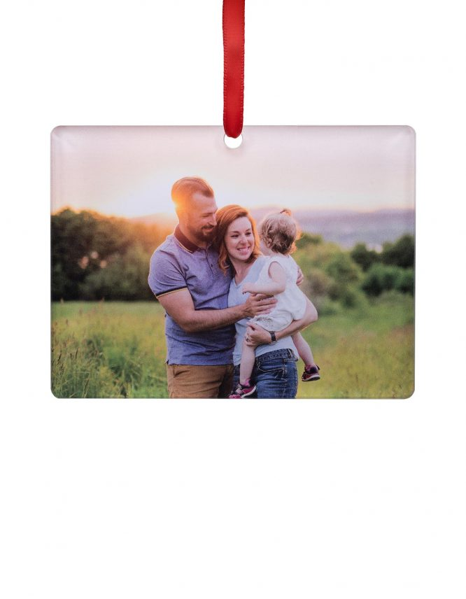 personalized acrylic photo ornament