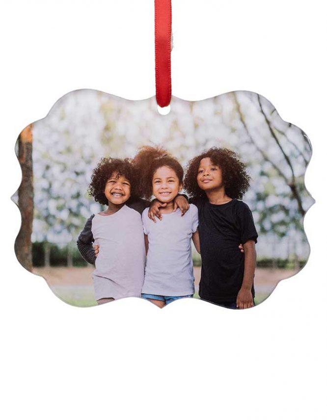 acrylic scalloped ornaments
