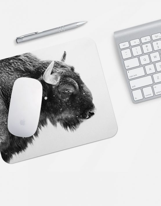 custom mouse pad black and white photo