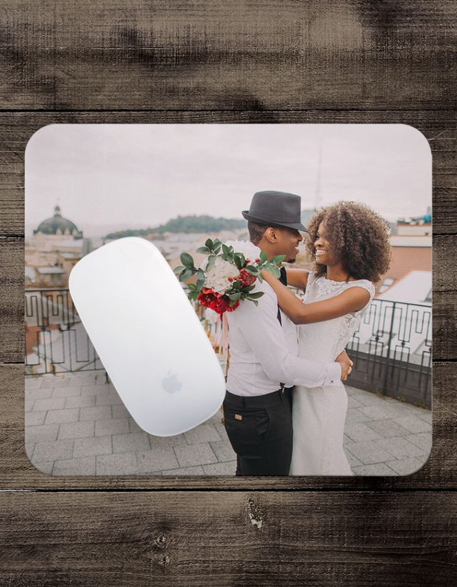custom mouse pad with wedding photo