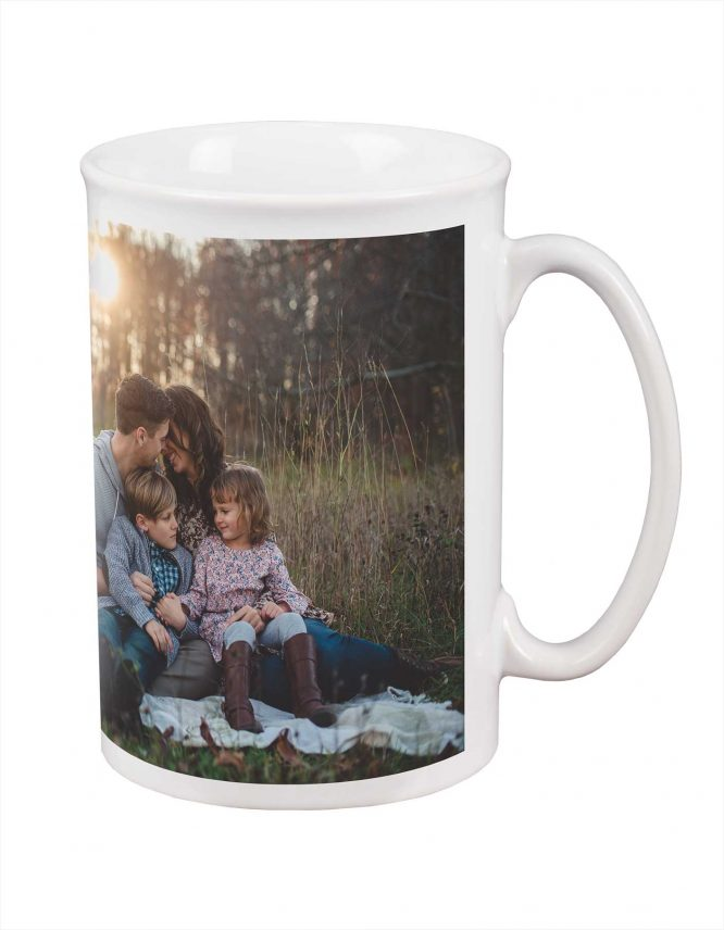 large custom photo bistro mug