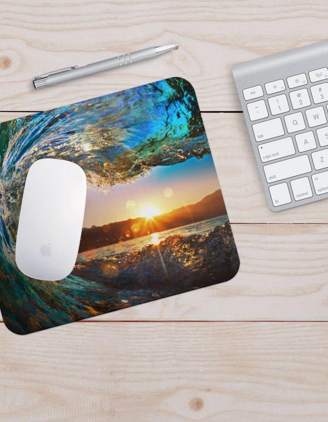 custom wave photo mousepad